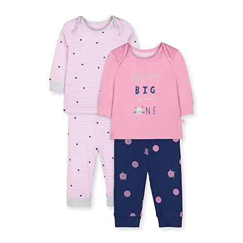 Mothercare Unisex Baby Io G Stripey Cat 2pk Pj Zweiteiliger Schlafanzug, Schwarz (Lights Multi 213), 9-12 Months (Size:80)