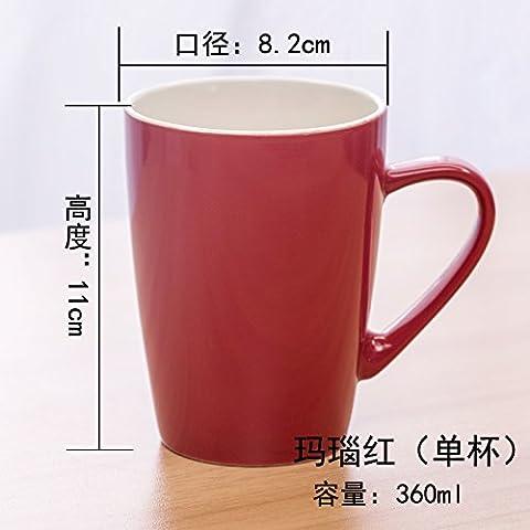 Sproud Ceramic Tasse Tasse Tasse Tasse Simple Couple,Red