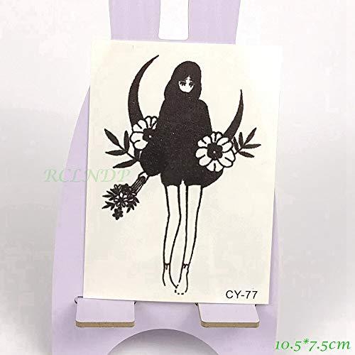 5pcs tatoo tattoo impermeabile bella ragazza con fiori tatto adesivi flash tatuaggi tatoo per donna signora