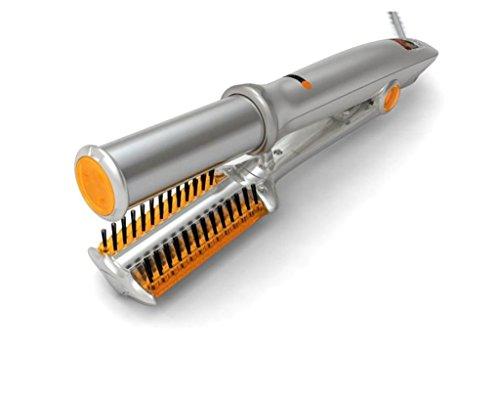 G&M Cheveux fer à friser Ceramic Curling Baguette Chaud Brosse Cheveux Lisseur Cheveux Fer à Friser Céramique Fer Straight Volume Double usage