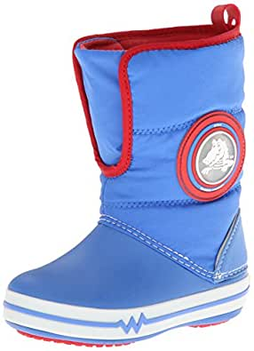 Crocs Crocslights Gust Boot Ps, Boots mixte enfant - Bleu (Varsity Blue/White), EU 24-25 (C8)