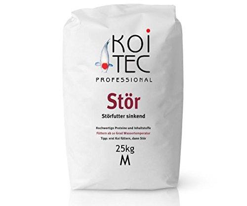 Störfutter sinkend mit 5-6mm Pelletgröße in 25kg Sack – für optimales Wachstum frisch in Deutschland für KOITEC produziert – Futter für Störe, Fische & Koi