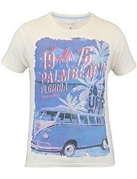 Hommes Manche Courte Palme Plage T-shirts Par Soul Star