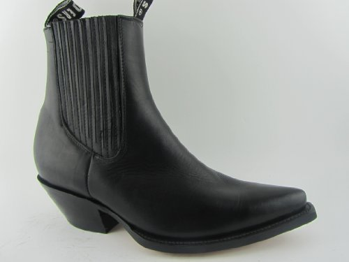 Grinders - Stivali da Cowboy Unisex adulti uomo , Nero (nero), 43 EU