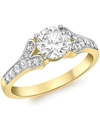Carissima Gold Damen-Ring 9 k (375) Gelbgold Zirkonoxid 54 (17.2)