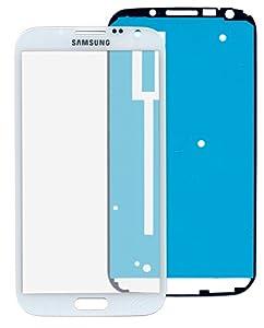 Samsung Galaxy Note 2 N7100 Glas in WEISS: Reparatur Set *NEU* mit Glas Scheibe und Kleber, Display withe, Frontscheibe komplett, Display-glass repair kit für Note 2, Ersatzteil für Glasscheibe
