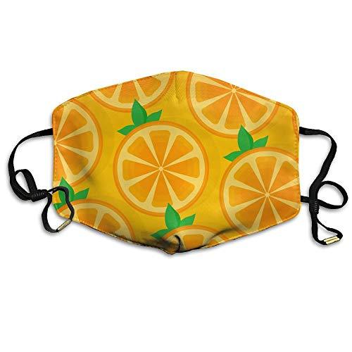 Monicago Einzigartige Unisex-Mundmaske, Gesichtsmaske, Orange Pattern Face Mask, Reuseable Polyester Face Mouth Mask Respirator For Cycling Anti-Dust For Unisex Men Women Girls