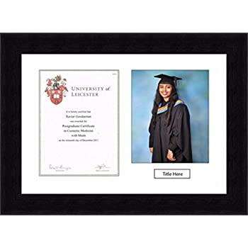 36mm Walnut Graduation Photo and Certificate Frames with Double ...