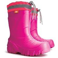 Kids Girls Pink Wellington Boots Rainy Snow Wellies Ultra Light EVA Warm Liners