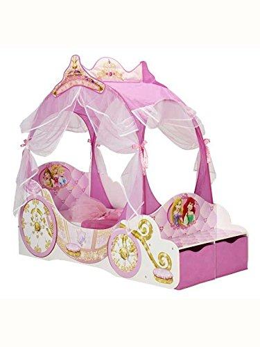 Disney-Letto per bambini a forma di carrozza principesse, (Letto Disney)