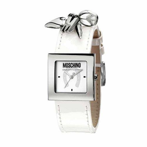 Moschino - MW0026 - Montre Femme - Quartz - Analogique - Bracelet Cuir Blanc