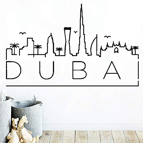 Kreative Dubai Karte Coole Wandaufkleber Pvc Wandkunst Diy Poster Pvc Wandtattoos Für Lebende Kinder Lila M 30 cm X 48 cm