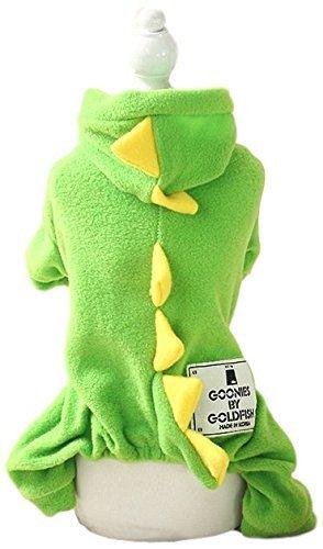 Haustier Junge Mädchen Hund Katze grün Dinosaurier Drache Krokodil Halloween Kostüm Outfit Verkleidung modischer Kleidung Kleidung XS-XL - Grün, Extra (Hund Kostüme Drachen)