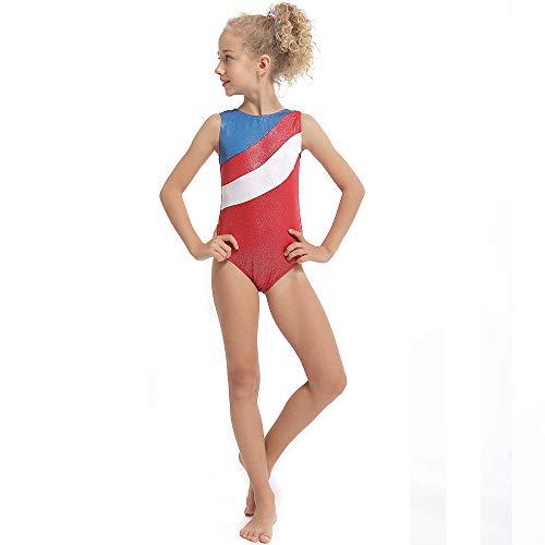 YAFEIYA Mädchen Ballett Dancewear Sleeveless Ballett Kostüme für Mädchen Erwachsene Gymnastik Trikots Professionelle Ballett Tutu Tanzen Kleid,Red,100 (Red Tutu Erwachsene)