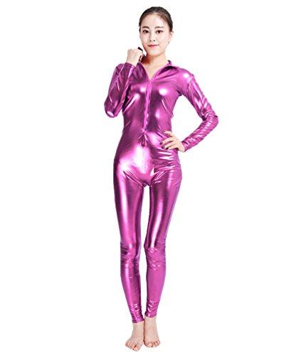 NiSeng Erwachsener und Kind Kostüm Catwoman Halloween Karneval Ganzkörperanzug Eleganter Jumpsuit Catsuit Bodysuits Rose M (Skin-suit Halloween-kostüme)