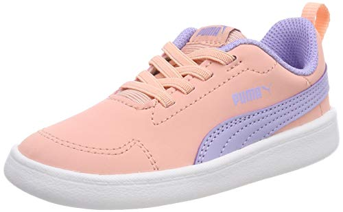 Puma Unisex-Kinder Courtflex Inf Sneaker Rosa (Sweet Lavender-Peach Bud White), 24 EU