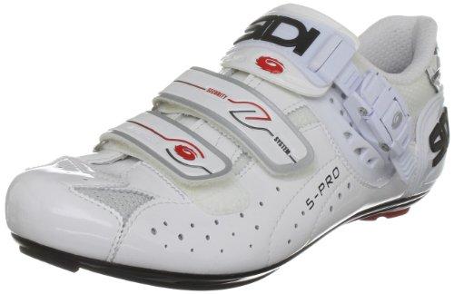 Sidi Genius 5 Pro Vernice, Scarpe da ciclismo uomo, Bianco (Weiß (White)), 35,5