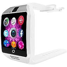 [Vatertagsgeschenk] Smart Watch, FOTOWELT 2016 Neueste Q18 Smartwatch mit Kamera Original-TF / SIM-Karten-Slot für Android Samsung Galaxy / Note und iphone iOs-Upgrade als U8L DZ09 - Weiss
