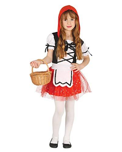 Horror-Shop Kinder Kostümkleid Rotkäppchen für Theater, Fasching & Kindergeburtstag S