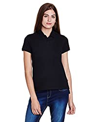 Levis Womens Solid T-Shirt (39638-0012_Black_Large)