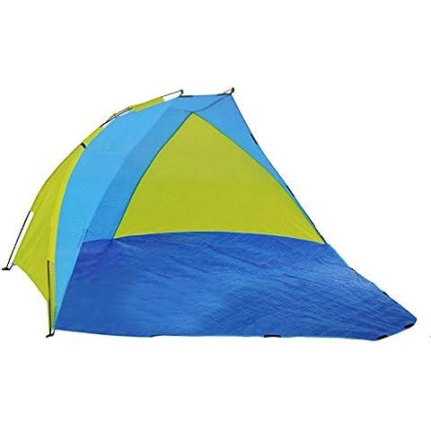 COM de Four® playa sol–Viento protección Visión para playa y jardín 250x 228x 120cm