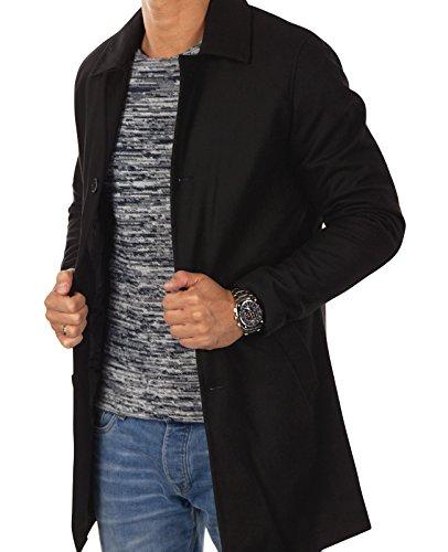JACK & JONES Herren Mantel jorCITY Wollmantel klassischer Mantel Unifarben Schwarz (Black)