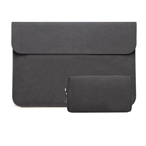 Wildleder wasserdicht Notebook-tasche Mit kleinaufbewahrung pouch case,Portable notebook geschäftsfall kompatibel 12-15.6-zoll-laptop-E 15.6Zoll - Wildleder-laptop-tasche