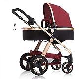 3 in 1 Kinderwagen Buggy Kinderwagen Kinderwagen Safe & Care 4 Wheel Faltbare Einstellbare Jogger Travel System