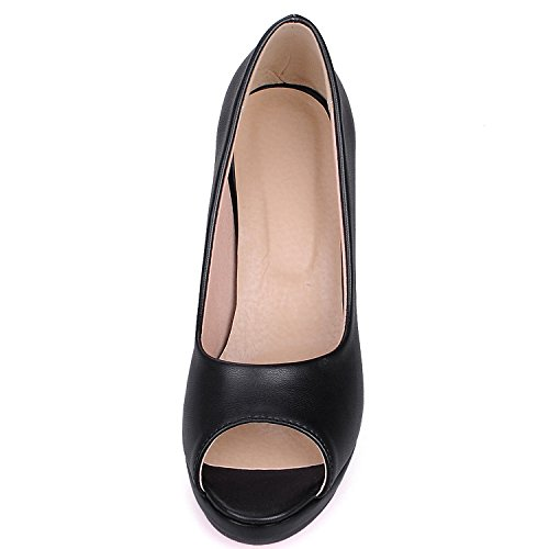 Oasap Damen Offen High Heels Pumps Black