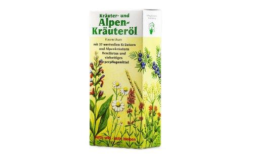 Kräuter- und Alpenkräuteröl mit 37 wertvollen Kräutern und Alpenkräutern - Kosmetikum