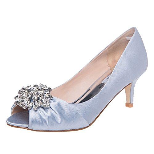 3be54b2adcd67a XINJING-S SheSole Frauen Hochzeit Schuhe High Heels Peeptoe Pumps Kleid  Silber