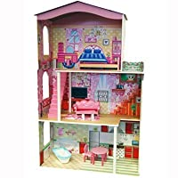 A.B.Gee Wooden 3 Storey Dolls House by AB Gee