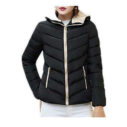 SEWORLD Sport Damen Mode Winter Dick Warme Bluse Herbst Mantel Hohe Qualität Langarm Blazer Strickjacke Slim Jacke Mantel(A-Schwarz,EU-38/CN-L)