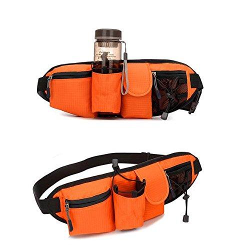 &zhou Kleine Taschen Freizeit Bergsteigen für Verwendung im freien Männer und Frauen kombiniert Geldbörsen Bewegung Schulter Umhängetasche Orange