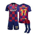 GNMM Trikot Fu?Ball Barcelona Trikot Griezmann 17# Trikot Erwachsene Kinder Anzug Kurzarm + Shorts + Socken Fu?Ball Uniform