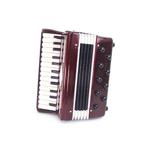 FiedFikt Mini instrumento musical acordeón 1:12 casa de muñecas miniatura muebles de escena...
