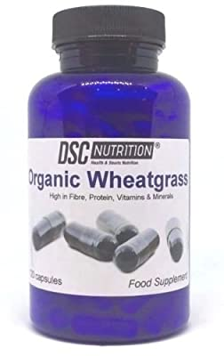 120 Organic wheatgrass Capsules, EU Grown, Superfood in a BOTTLE, By DSC Nutrition by DSC NUTRITION