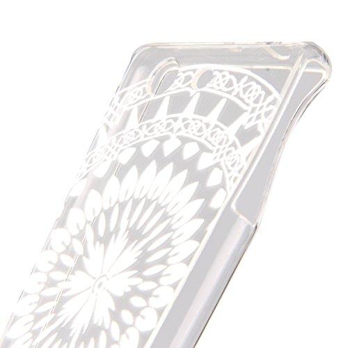 Trasparente TPU Custodia Case per iphone 5C - ISAKEN ultra sottile Silicone Custodia Morbido Flessibile case cover Protettivo Skin UltraSlim TPU Caso per Apple iphone 5C (tarassaco) acchiappasogni