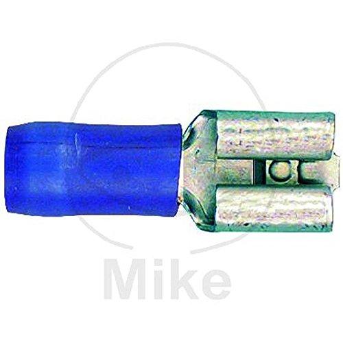 Dresselhaus Kabelverbinder, isoliert Flachsteckhülse 6,3 x 0,8 mm, 11 x 9052, 100 Stück, blau