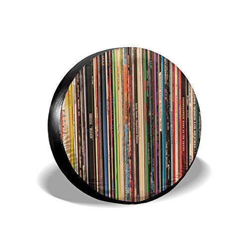 Cocoal-ltd Alternative Rock Vinyl-Platten Universal Reserverad Reifen Abdeckung passend für LKW, Wohnmobil, Jeep, Anhänger, Wohnmobil, SUV Anhänger Zubehör 38,1 cm (Durchmesser 68,6-73,7 cm) (Abdeckung Jeep Reifen)