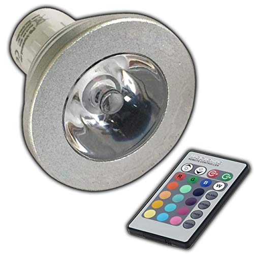 GU10 RGB LED - Farbwechsel Lampe 4 Watt mit Fernbedienung Farblicht Lampe Strahler Glühbirne Birne Leuchtmittel Spot