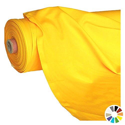 Meterware - OEKO-TEX® Baumwoll-Qualität, Leichter Klassiker zum Nähen und Dekorieren (Gelb) (Kleid Zum Günstigen Preis)
