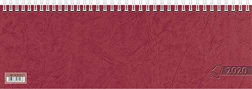 Glocken Wochenkalender Tischkalender 1 Woche / 1S 2020 roter Kartondeckel 29,7 x 10 cm (1)