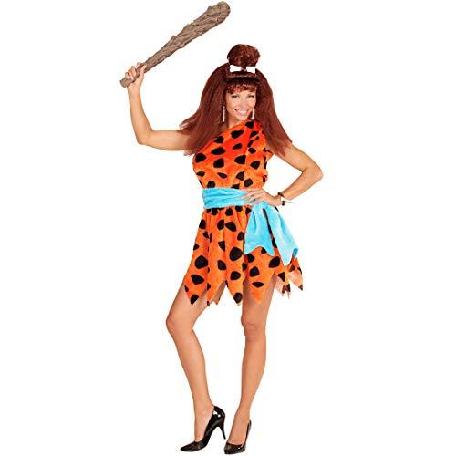 Wilma Feuerstein Kostüm Damenkostüm Steinzeit Neandertaler Frau Höhlenfrau Höhlenmensch Damen Verkleidung Flinstones Karnevalskostüm Neandertalerin Faschingskostüm - 2