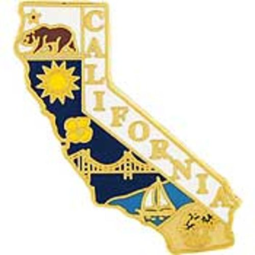 California Karte Pin 2,5cm (Karten California)