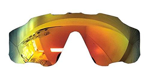MZM Polarisierte Ersatzgläser für Oakley Jawbreaker (wählen Sie die Farbe) (Fire Iridium)
