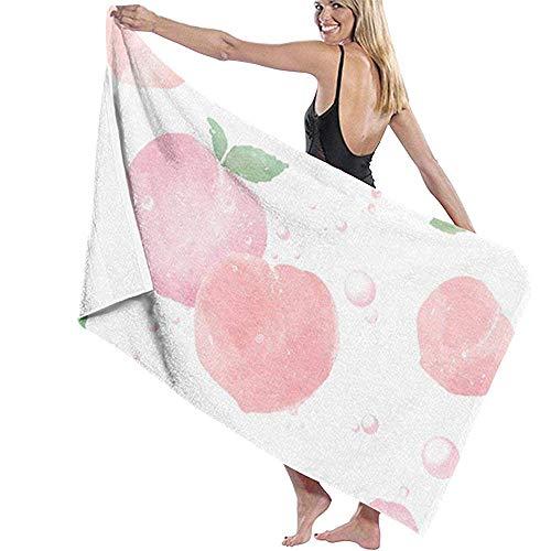 tyui7 Damen Badetuch Wrap - Rosa Pfirsich Reise Waffel Spa Quick Dry Strandtuch Wrap für Mädchen, 80x130 cm -