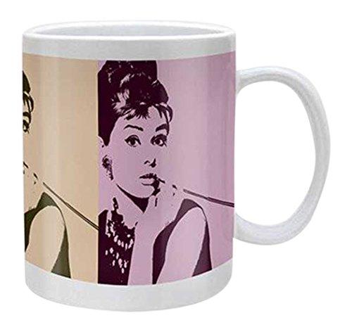 empireposter - Hepburn, Audrey - Cigarello - Größe (cm), ca. Ø8,5 H9,5cm - Lizenz Tassen, NEU - Beschreibung: - Keramik Tasse  -