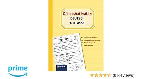 Klassenarbeiten Deutsch 4 Klasse Originale Lernzielkontrollen Von Grundschullehrern Entwickelt