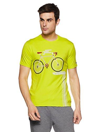Peter England Perform Men's T-Shirt (8907609975017_CKC51708566_Large_Mediumyellowsolid)